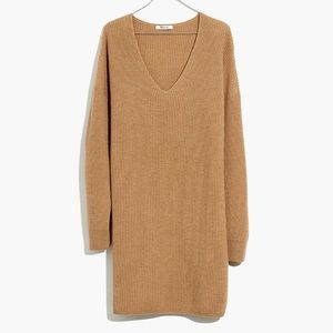 NWT Madewell Sweater Dress camel color size S